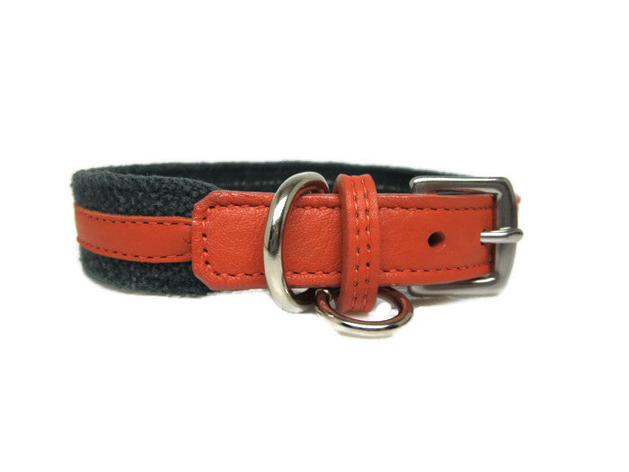 Hemp and Leather Dog Collar - Around The Collar NY