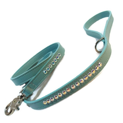 Shanti Jeweled Leather Leash - Around The Collar NY