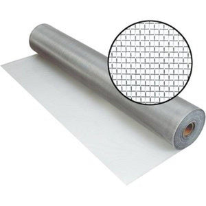 Aluminum Screen Mesh-Screen Mesh-ShadeScreenSolutions-Brite Kote (Silver)-24 Inches Wide X 15 Feet Long-
