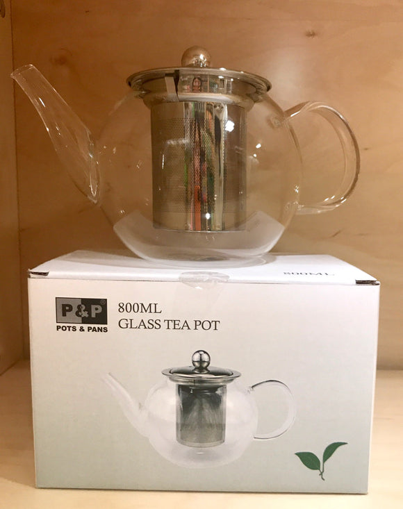 P&P 800ML Glass Tea Pot