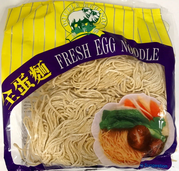 Double Merinos Fresh Egg Noodle 375G