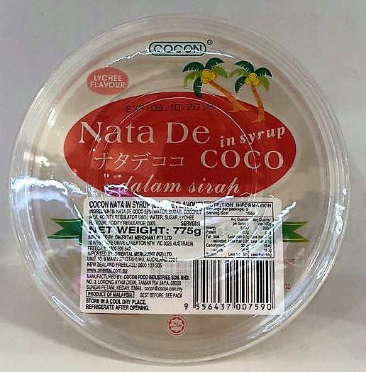 Cocon Nata In Syrup Lychee Flavor 775G
