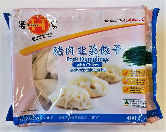 Hakka Pork Dumplings with Chives 400G