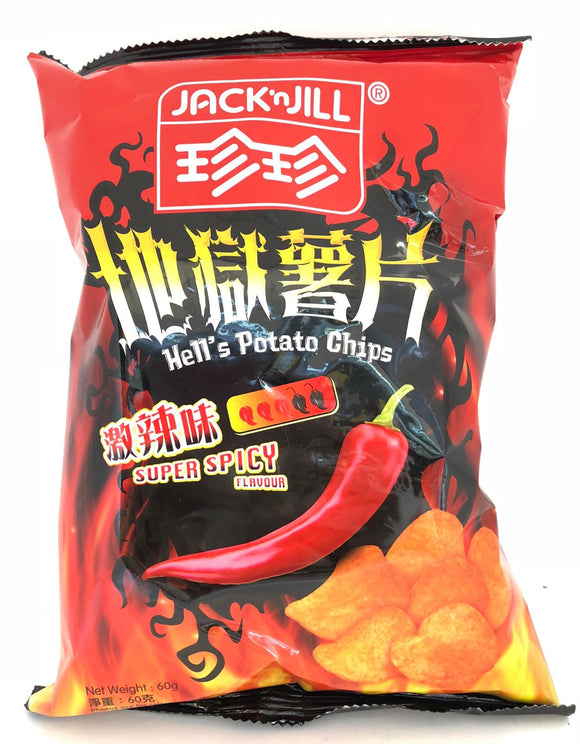 Jack'n'Jill Potato Chips Super Spicy Flavor 60G