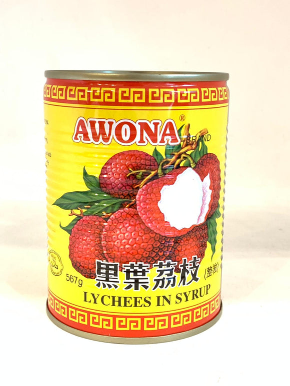 Awona Canned Lychee Syrup 565G