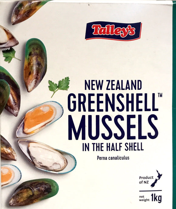 Talleys Mussel Half Shell 1KG