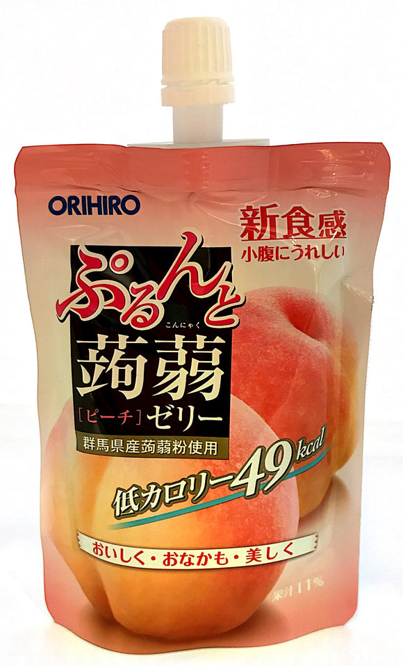 Orihiro Purun To Konnyaku Jelly (Peach) 130G