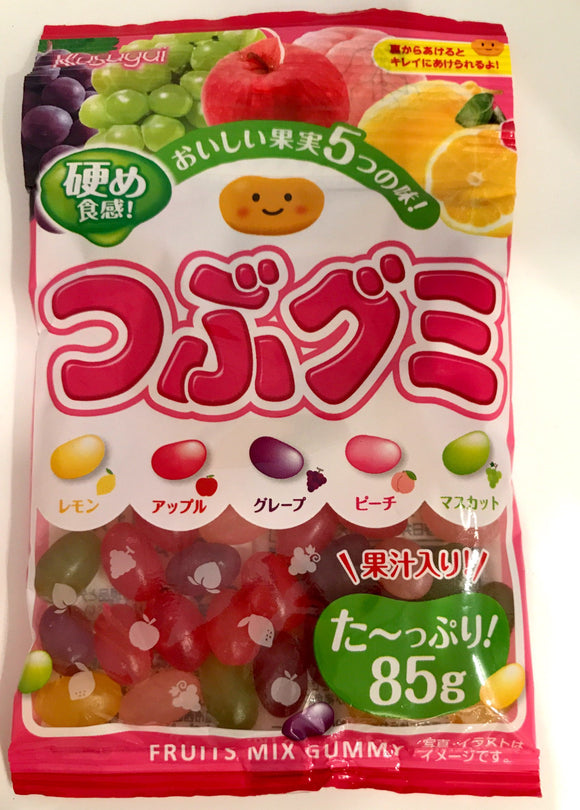 Kasugai Tsubu Gummy (Fruits) 85G