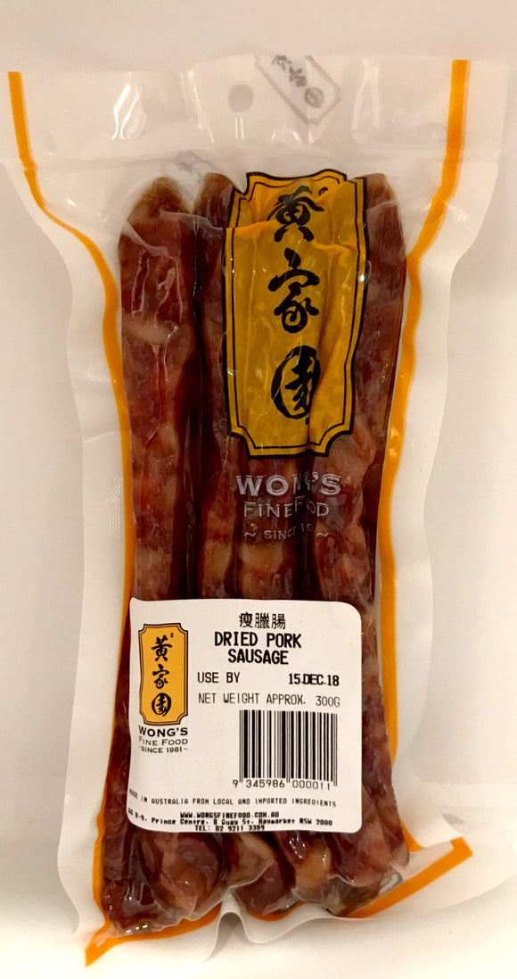 Wong's Dried Pork Sausage 300G