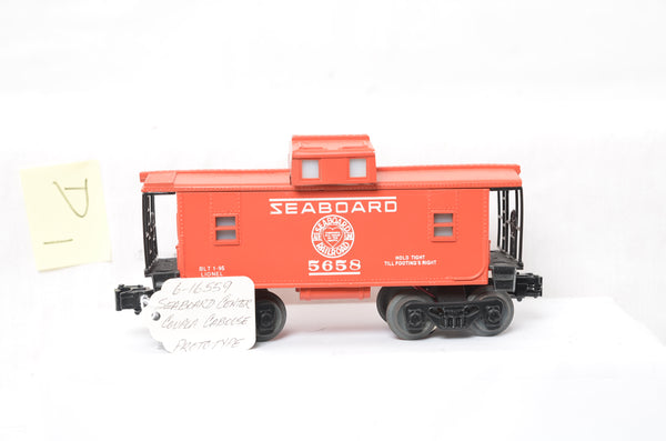 Lionel 16559 Seaboard Caboose Prototype - Varies from production