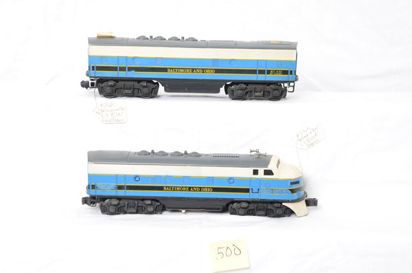 Lionel B&O F-3 2368P and T Test Samples
