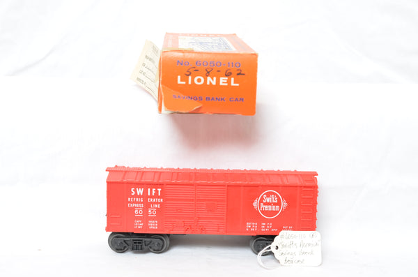 Lionel 6050-110 Savings Bank Car production sample with box