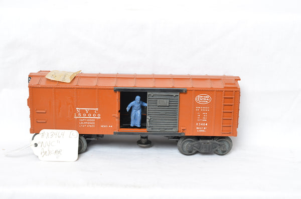 Lionel 3464 New York Central operating boxcar Production Sample