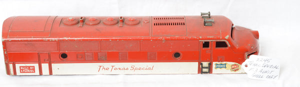 Lionel 2245 Texas Special F-3 shell only