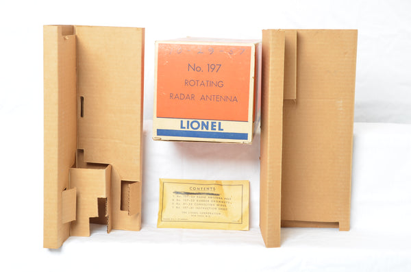 Lionel 197 Radar Tower - Production Sample BOX ONLY