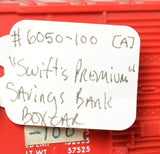 Lionel postwar 6050-100 Swift's Savings Bank boxcar