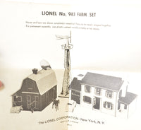 Lionel 983 Farm Set production sample