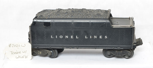 Lionel Lines 2020W whistle tender