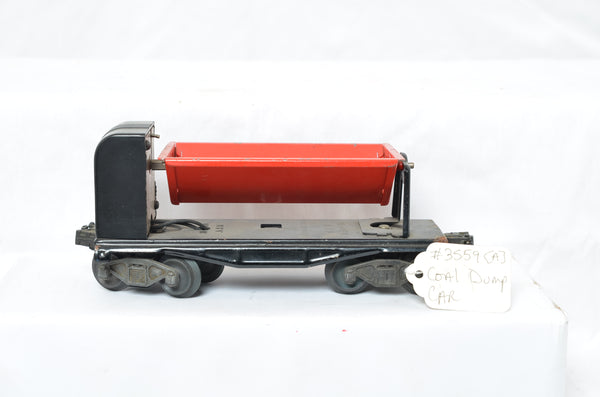Lionel 3559 dump car - Rubber stamp dated on underside