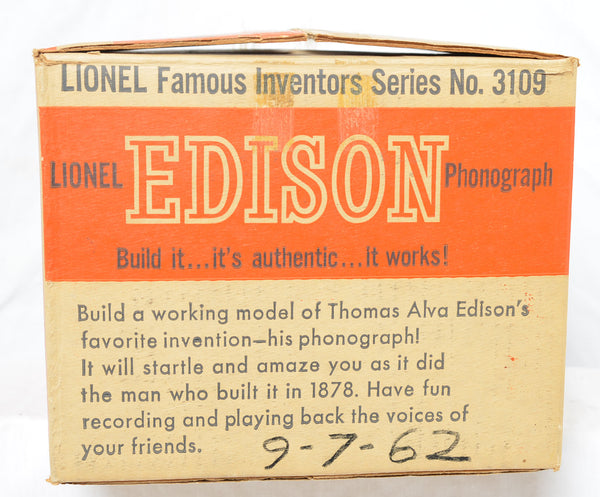 Lionel 3109 Famous Inventors Series Edison Phonograph production sample