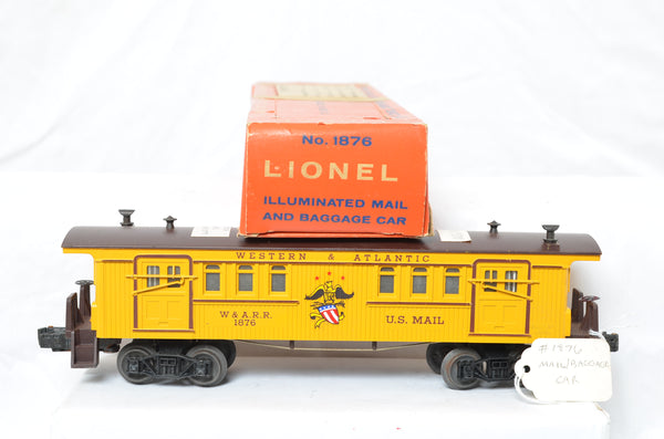 LIonel postwar 1876 WARR Mail car production sample