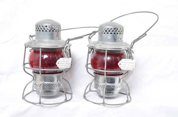 Pair of Lionel Adlake production sample lanterns for LCCA