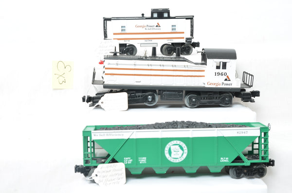 Lionel Georgia Power prototype NW-2, hopper, and caboose