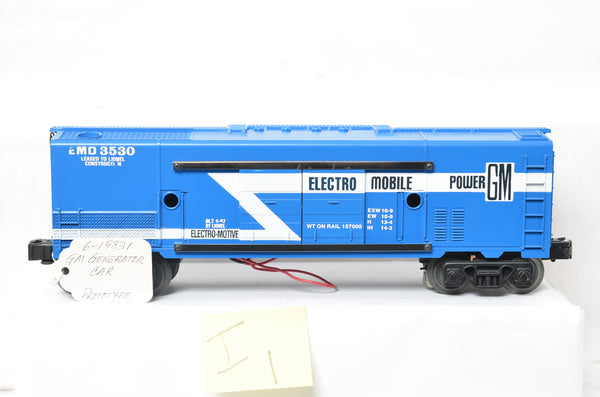 Lionel 19831 / 3530 GM Electromobile Power Generator car prototype