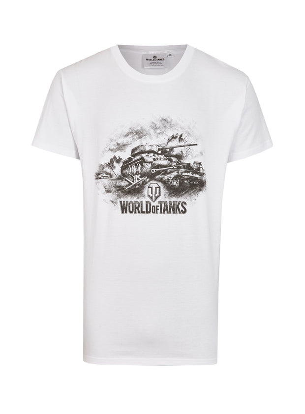 World of Tanks Logo T-Shirt White