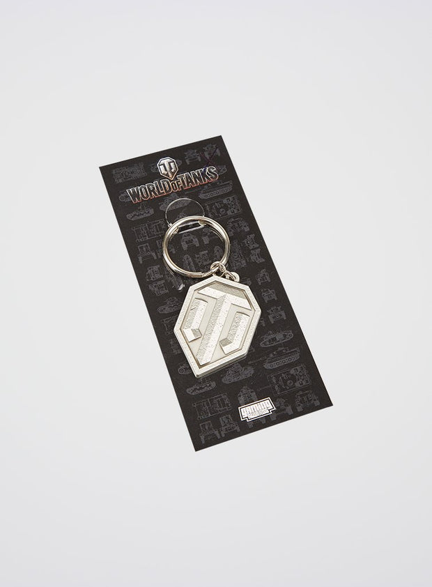 World of Tanks 3D silver keychain