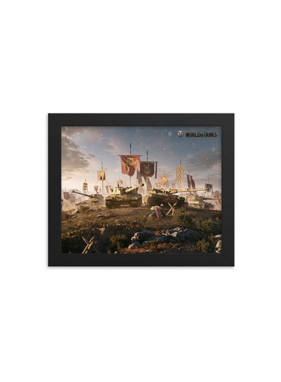 World of Tanks Framed poster Italian Brawlers
