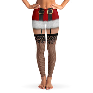 Naughty Santa Leggings  *** CLEARANCE***
