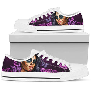 Men's Low Tops Calavera Violet (White Soles)