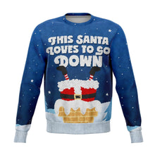 Santa Goes Down Ugly Sweater *** CLEARANCE***