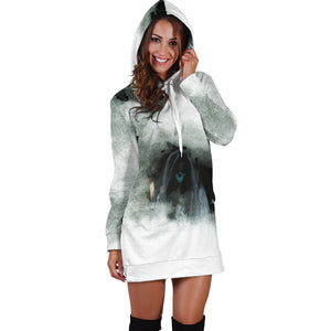 Macabre Mythology (Cyhyraeth) Women's Hoodie Dress