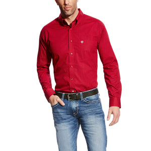 The Men's Ariat Glenn Shirt - True Crimson