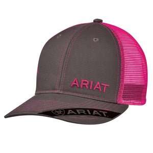 Women's Ariat Mesh Snap Closure Cap Pink