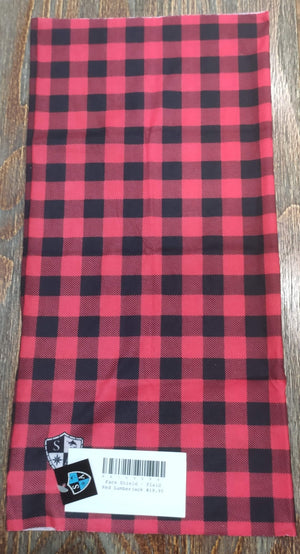 Face Shield - Plaid Red Lumberjack