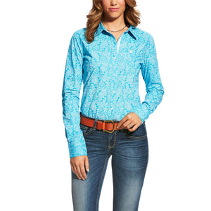 Women's Ariat Kirby Livingstone Shirt Perfect Turquoise