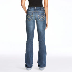 Women's Ariat R.E.A.L Boot Cut Jeans Tulip Gemstone