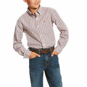 Boy's Ariat Calahan L/S Black Performance Shirt