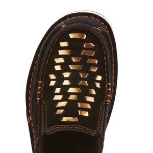 The Women's Ariat Gold Weave Black Suede 10025022