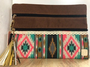Tribal and True Double Zipper Versi Bag