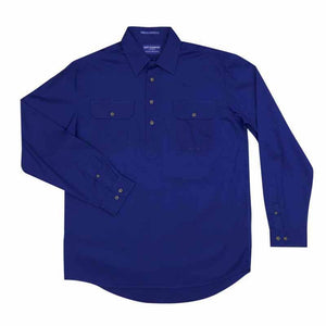 Just Country Cameron 1/2 Button Shirt Men's Cobalt - Diamond K Country