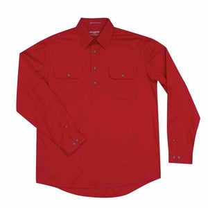 Just Country Cameron 1/2 Button Shirt Men's Chilli - Diamond K Country