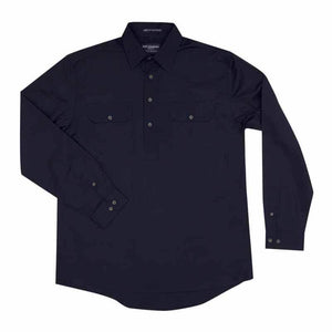 Just Country Cameron 1/2 Button Shirt Men's Navy - Diamond K Country