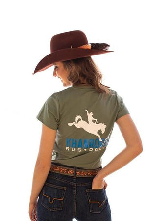 Women's Khan Rodeo Forest Green Tee