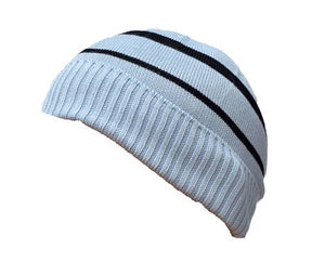 Bamboo Textiles Beanie - Blue and Black