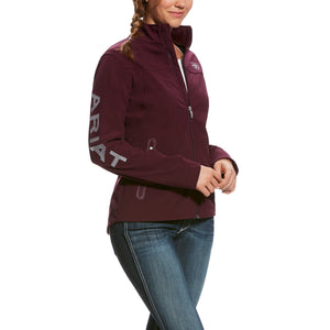 Women's Ariat Maroon Softshell Jacket