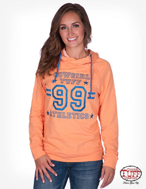 Women's Cowgirl Tuff - Coral Hoodie